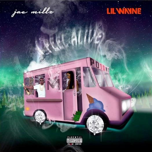 fotos cover portada de jae millz lil wayne feel alive cancion single