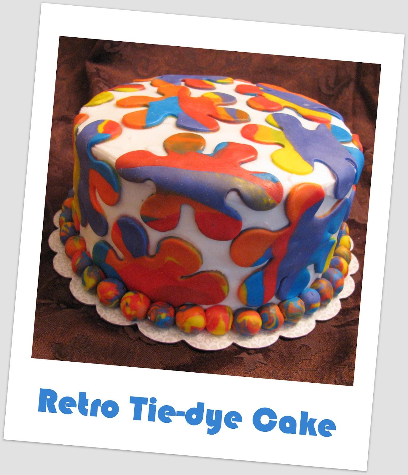 Retro Tie Dye Cake