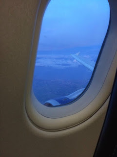 Four Go To Florida #1 Getting There - Glasgow International Airport - British Airways BA2953 Wing Pic