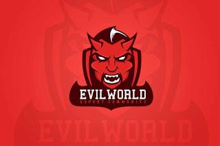 EvilWorld logo (MYeSportdesign) gambar logo squad keren
