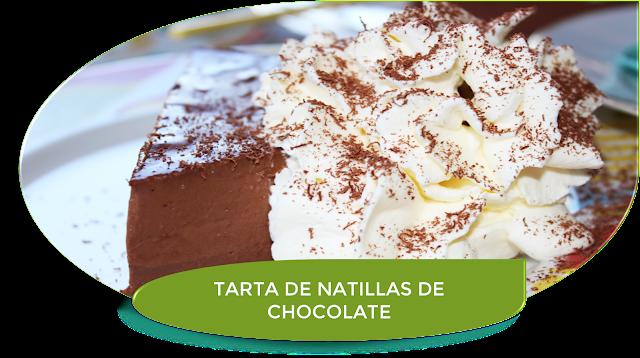 TARTA DE NATILLAS DE CHOCOLATE {SIN AZÚCAR}