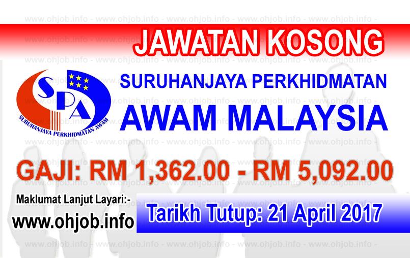 Jawatan Kerja Kosong SPA - Suruhanjaya Perkhidmatan Awam logo www.ohjob.info april 2017