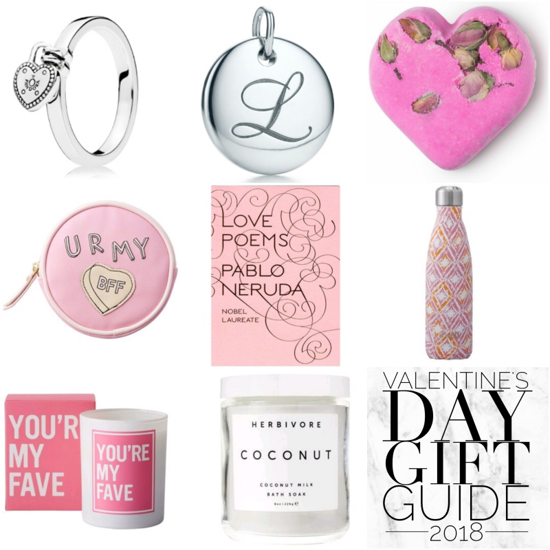 bbloggers, bbloggersca, canadian beauty bloggers, beauty blog, valentine's day, gift guide, chapters, indigo, tiffany and co., pandora, lush, love poems by pablo neruda, book, swell, s'well bottle, candle, herbivore, coconut milk bath soak, alphabet disc, love lock ring, tisty tosty, for her, bff