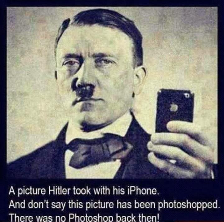 Silly Bunt: Hitler iPhone Photoshop Selfie