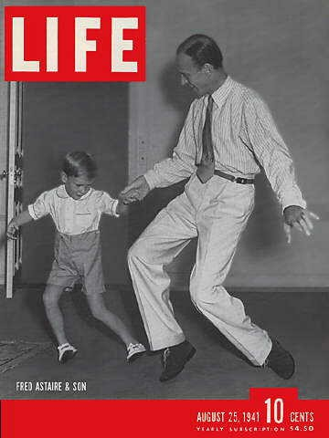 Fred Astaire and son on cover of Life, 25 August 1941 worldwartwo.filminspector.com