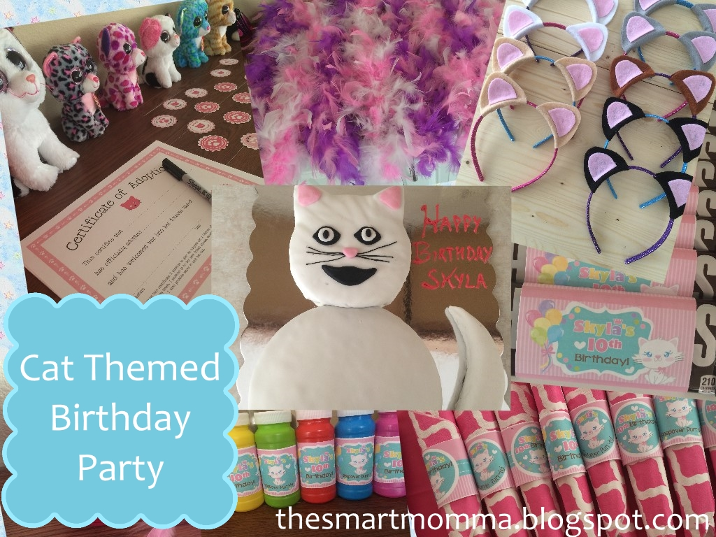 cat themed birthday party The Smart Momma: Cat Themed Birthday Party cat themed birthday party
