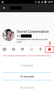 How to Send Auto-Destructive messages in facebook messenger