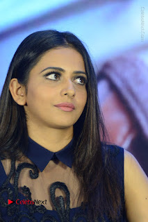 Actress Rakul Preet Singh Stills in Beautiful Blue Long Dress at Dhruva Salute to Audience Event  0056.JPG