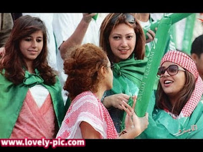 مشجعات المنتخب السعودي في روسيا