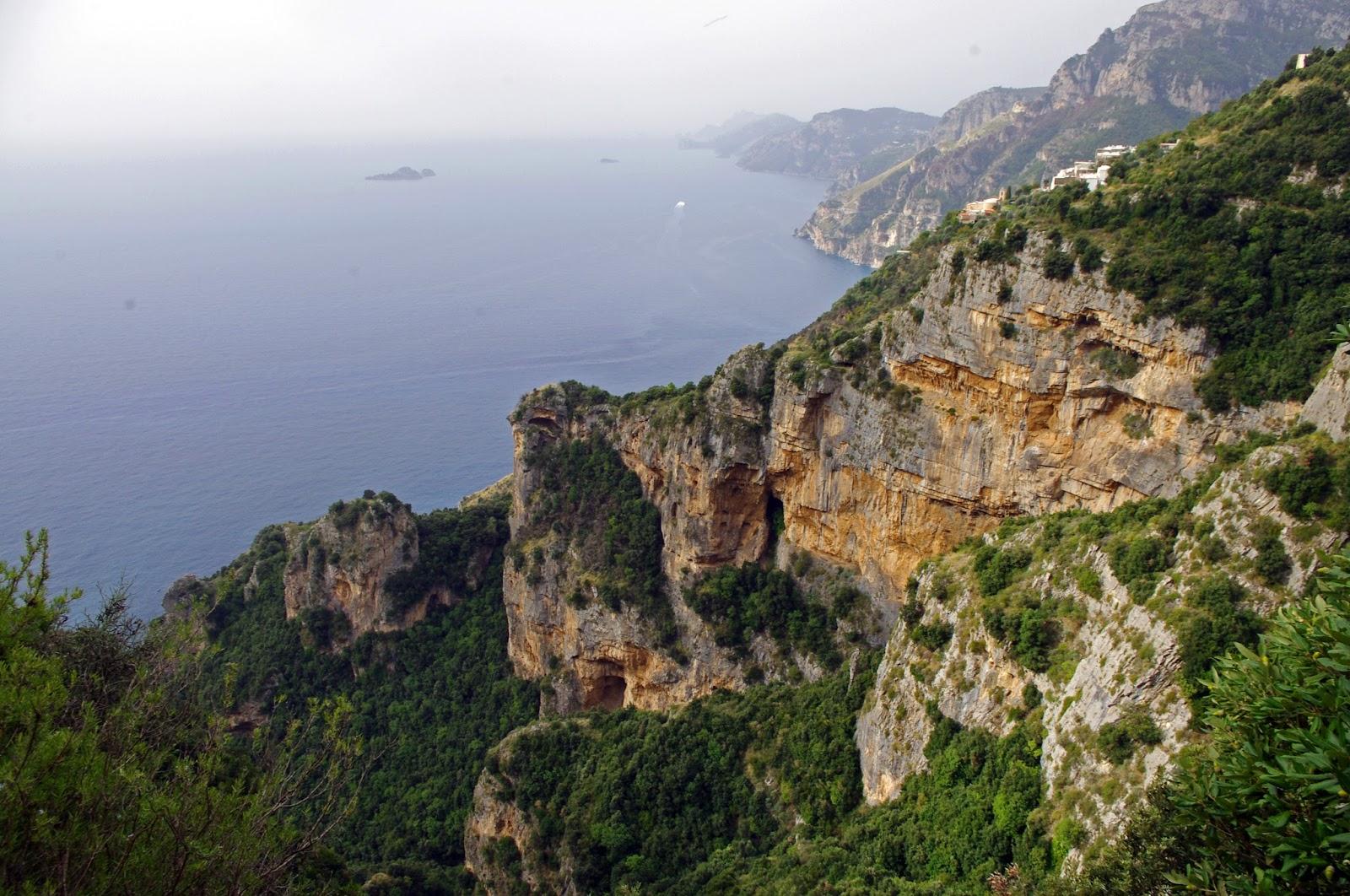 Views of Amalfi Coast from Walk of the Gods