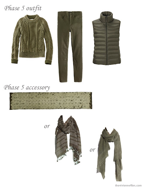 How to choose an olive green scarf