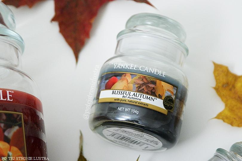 mała świeca zapachowa yankee candle blissful autumn wycofana unikat