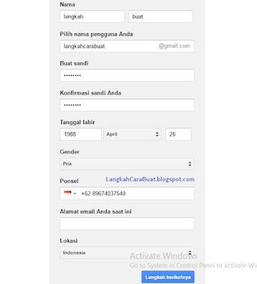 cara membuat alamat email di google