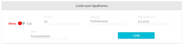 Penno.fi uuden tapahtuman lisääminen