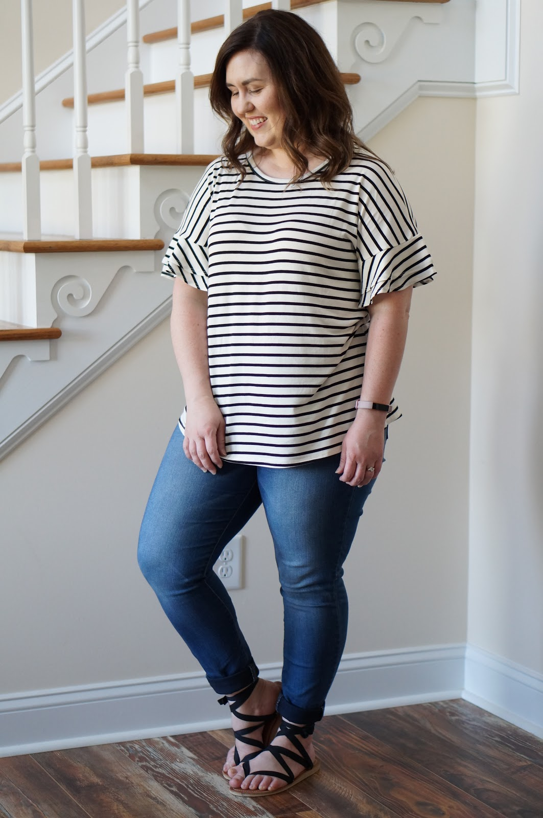Popular North Carolina style blogger Rebecca Lately shares her new favorite striped top from The Flourish Market.  Click here to check it out!