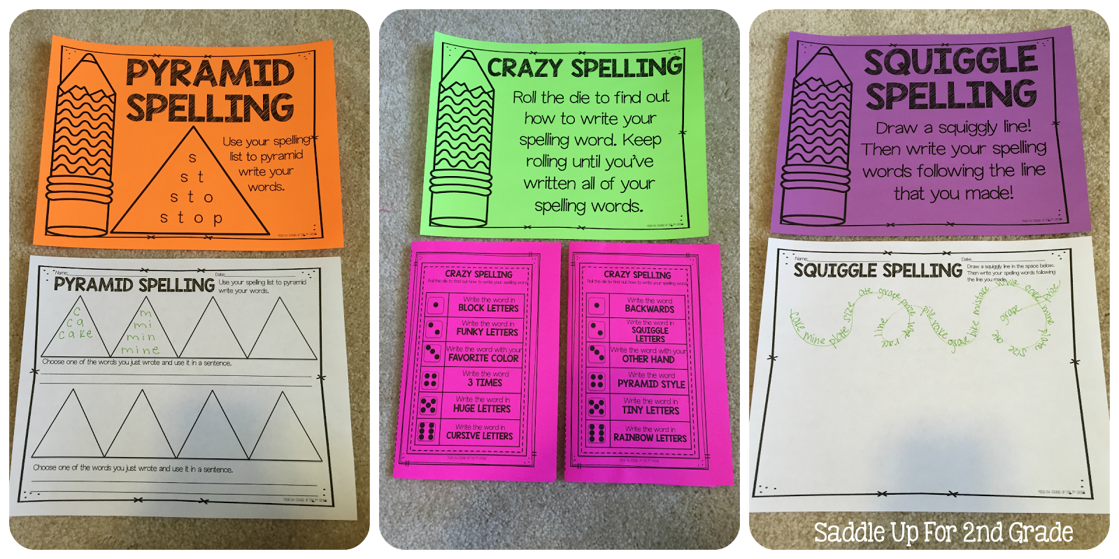 This is a set of Journeys spelling lists to SUPPLEMENT the 2nd grade curriculum. 30 weeks are included along with 12 ink friendly spelling activities to use with any of the lists. All of the activities also come with center instructions.
