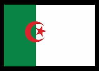 Algerian Flag Logo Vector