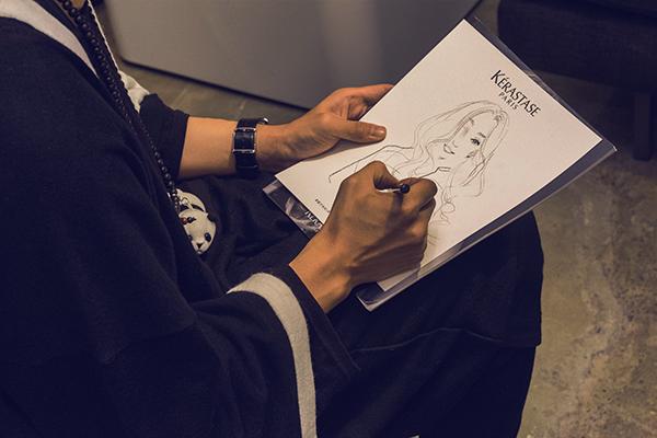 L'Oreal Kérastase Ben Liu Privé David D'Amours illustration