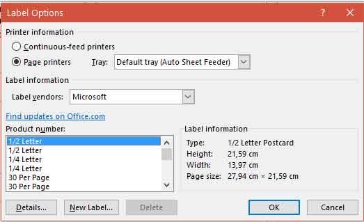 Microsoft word mempercepat untuk membuat label