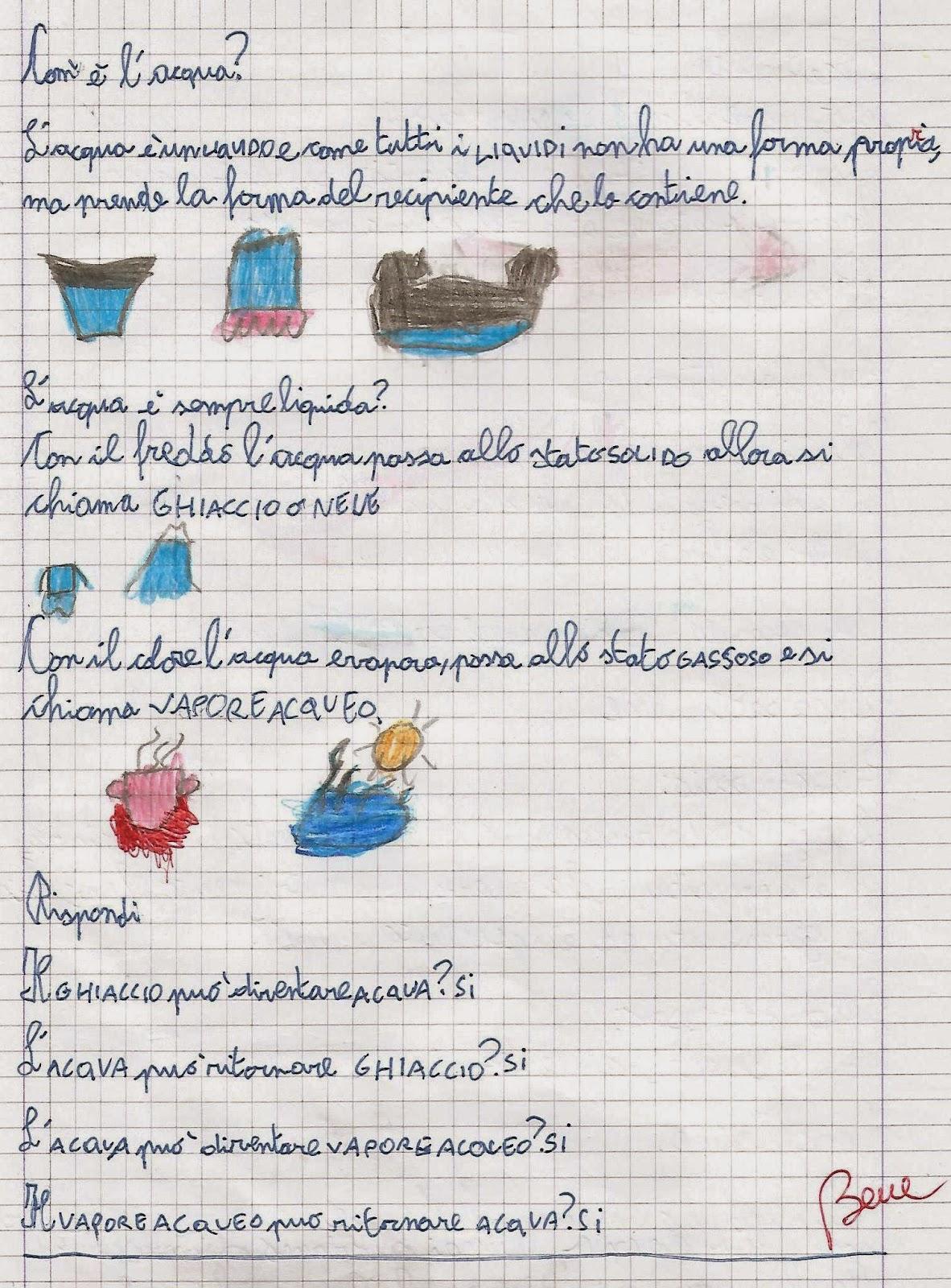 Preferenza Scienze classe seconda: l'acqua, il ciclo dell'acqua. TX87