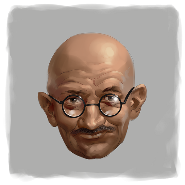 Mahatma Gandhi digital painting portrait
