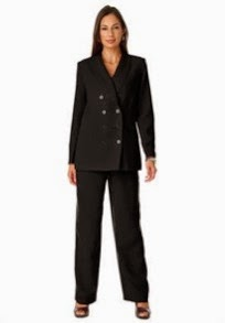 Jessica London Tall Double Breasted Pantsuit