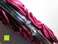 oben: Sumolux Elegante Handtasche Tasche Partytasche Abendtasche Tasche für Frauen Tasche für Damen Weinrot