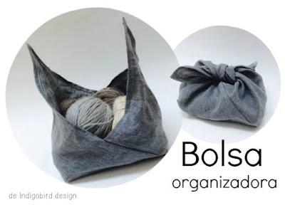 Bolsa para guardar lanas con cualquier tela