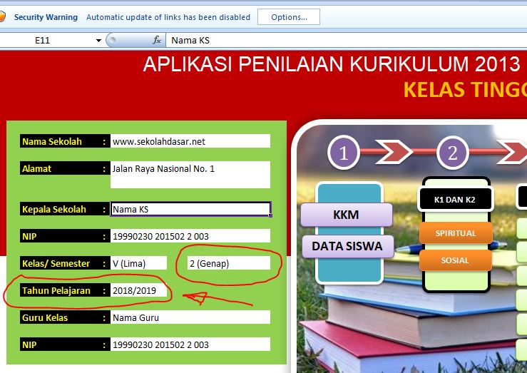 Aplikasi Raport K 13 Kelas 1 2 3 4 5 6 Semester 2 Sekolahdasar Net