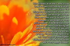 Happy Birthday wishes for grandfather: this birthday wish that i send to you is packed
