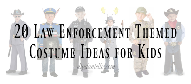 Police Themed Costumes that Kids Will LOVE!