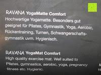 """Info: Yogamatte """"Ravana"""" Die ideale Yoga- und Gymnastikmatte für Yoga-Einsteiger. Maße: 183 x 61 x 0,4cm / Tribal Center"""
