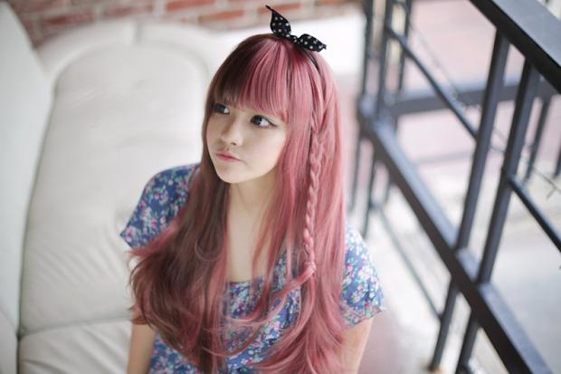 angie wong dyed hair
