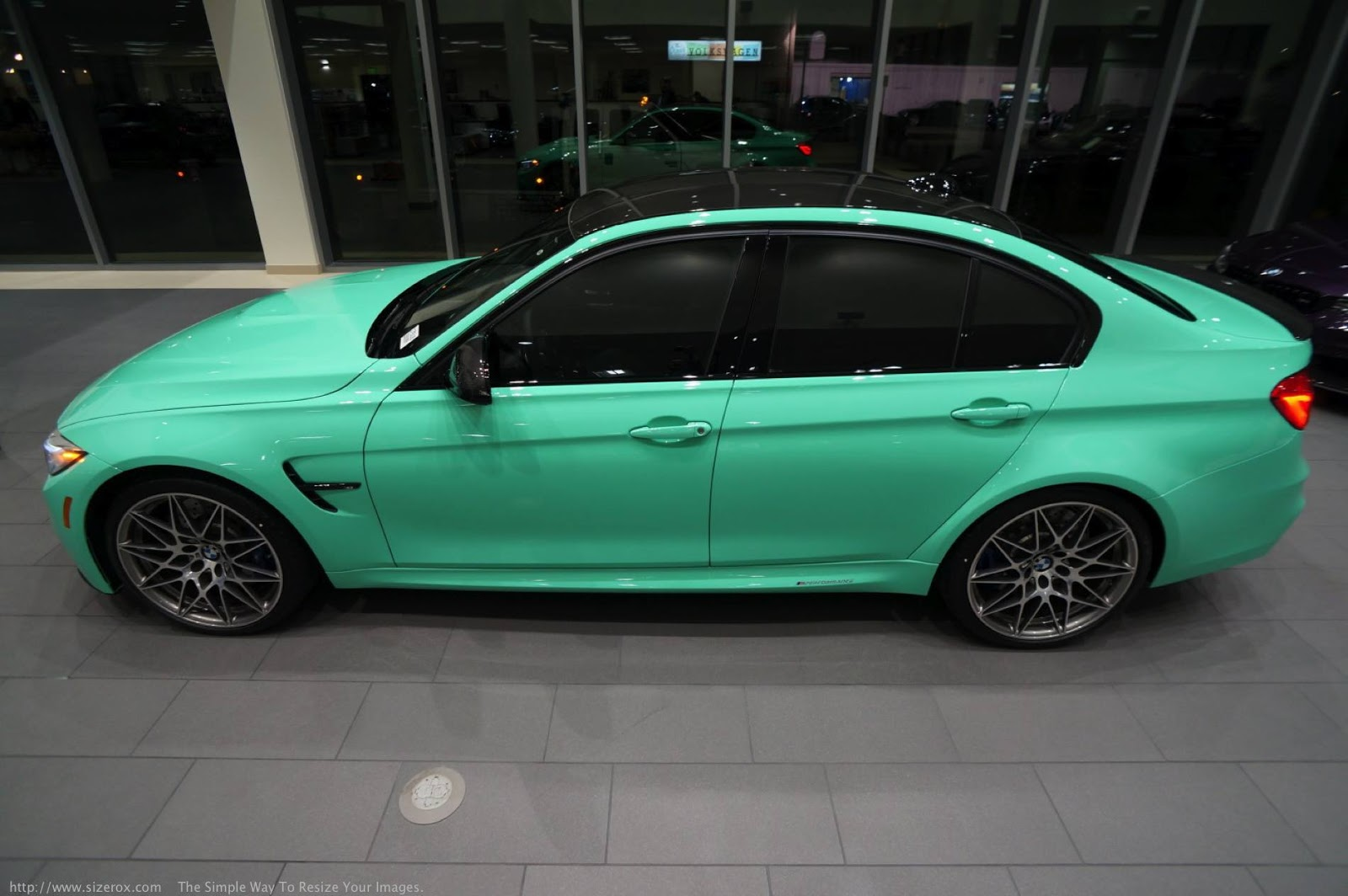 bmw individual mint green m3 competition is a true one off carscoops. Black Bedroom Furniture Sets. Home Design Ideas
