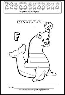 Treino ortográfico letra F de foca