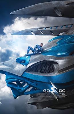 POWER RANGERS Zord Teaser Poster, Blue Ranger