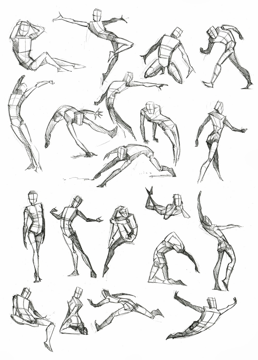 Concept Art Reference: Male Poses Reference