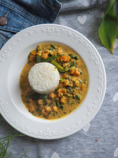 wegańskie curry zz dynią