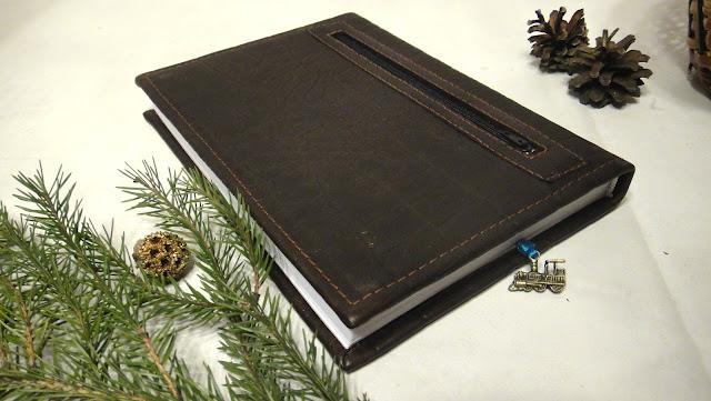 Именной ежедневник с карманом на обороте - подарок мужу, датированный ежедневник кожа