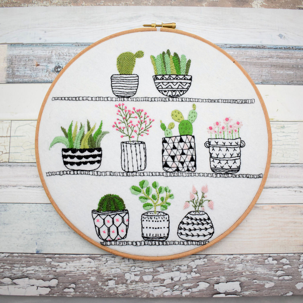 Rosie's House Plants Emmbroidery Kit by Bustle and Sew