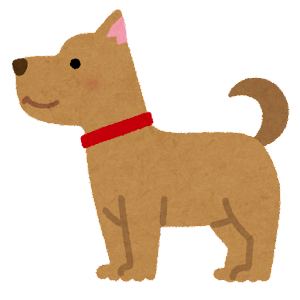 いろいろな角度から見た犬のイラスト(横姿)
