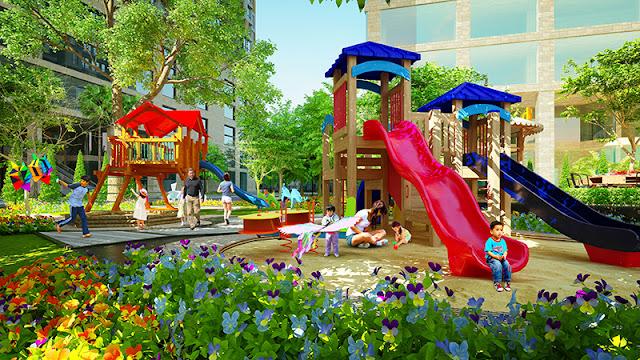 Công viên xanh chung cư D'. Le Roi Soleil
