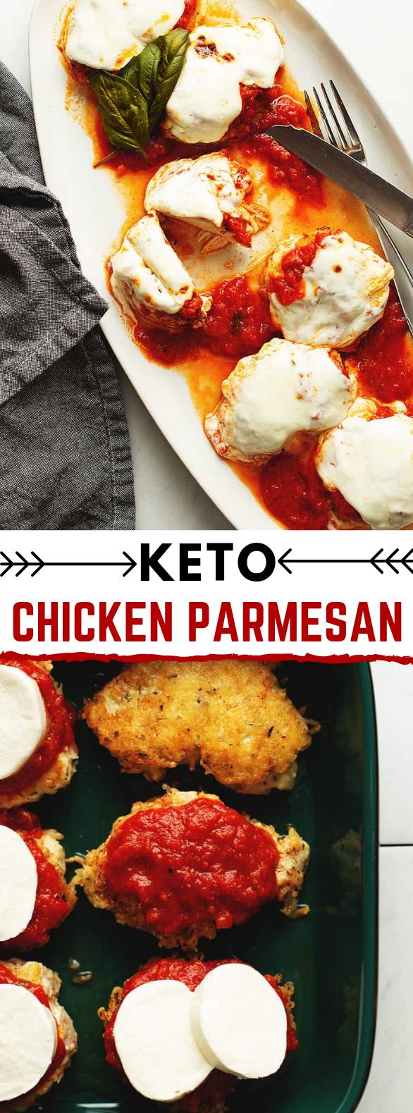 Keto Chicken Parmesan #ketorecipes #lowcarbrecipes