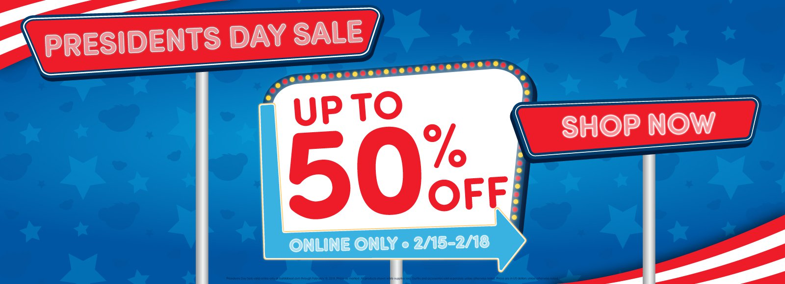 8bd8287fd4fa Now through February 18, Build a Bear has 450 items on sale up to 50% off.