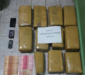 Decomisan 11 paquetes de presunta marihuana en San Juan