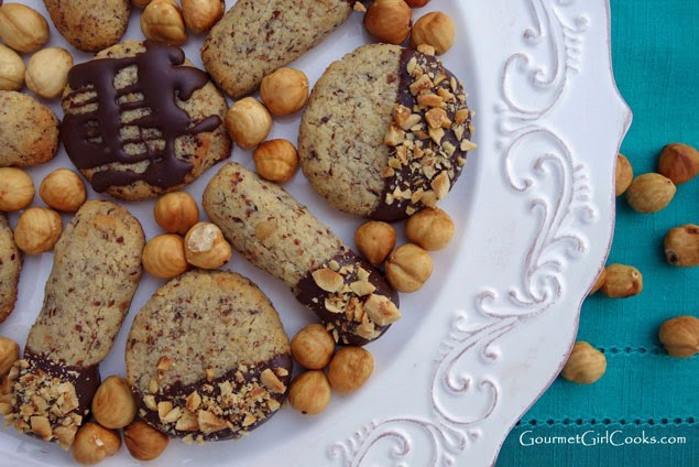 Chocolate Dipped Hazelnut Cookies | In The Kitchen With Honeyville