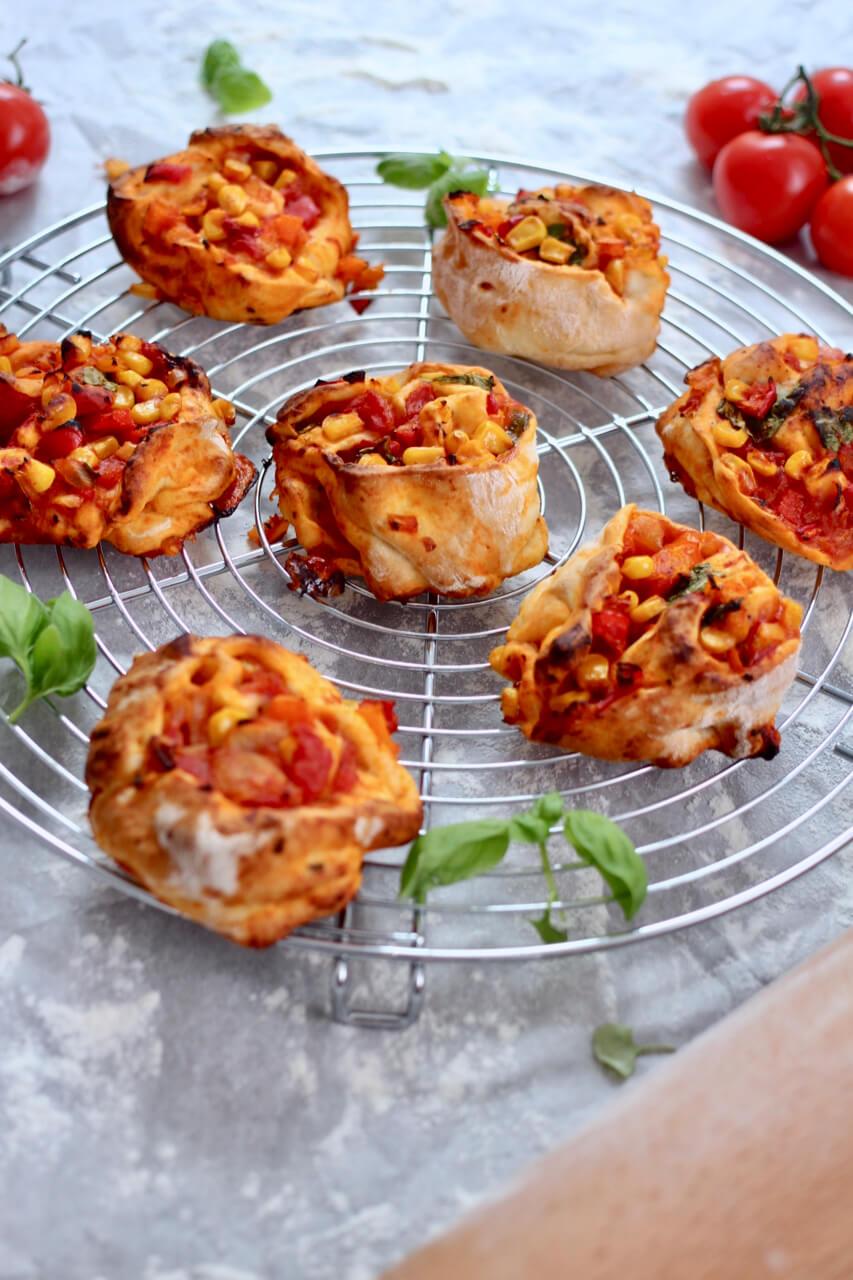 Pikante Pizza Schnecken