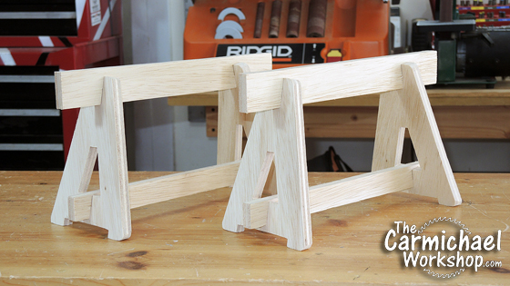 The Carmichael Workshop Benchtop Sawhorses