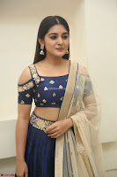 Niveda Thomas in Lovely Blue Cold Shoulder Ghagra Choli Transparent Chunni ~  Exclusive Celebrities Galleries 070.JPG