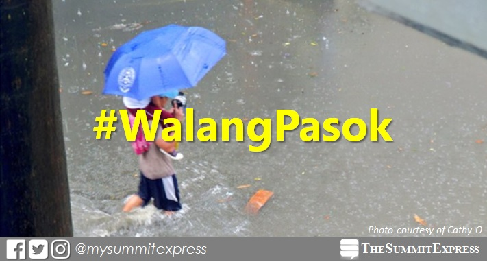 #WalangPasok: Class suspensions on Monday, August 13, 2018